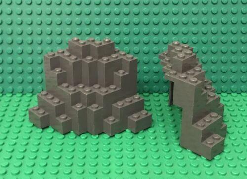 Lego X2 Dark Bluish Gray Rock Panel 8x8x6 Medium Symmetric MURP Parts Lot