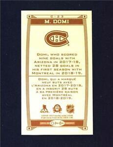 2019-20-UD-O-Pee-Chee-Caramel-Wood-Mini-C-23-Max-Domi-Montreal-Canadiens