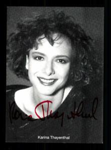 Karina Thayenthal Autogrammkarte Original Signiert ## BC 153369