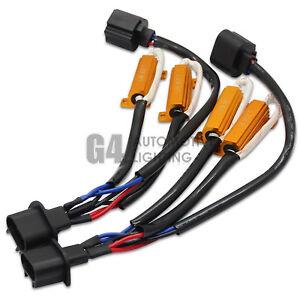 NEW H13 9008 HID LED Resistor Kit Relay Harness Anti Flicker Error