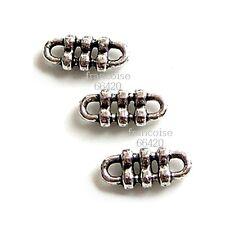 25 Connecteurs entre-deux Rectangle 11.5x5x2mm Perles apprêts créat bijoux _A228