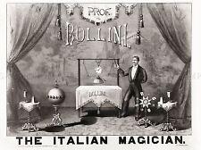 BOLLINI ITALIAN MAGICIAN 1879 MAGIC FILES VINTAGE ADVERT POSTER PRINT 500PYLV