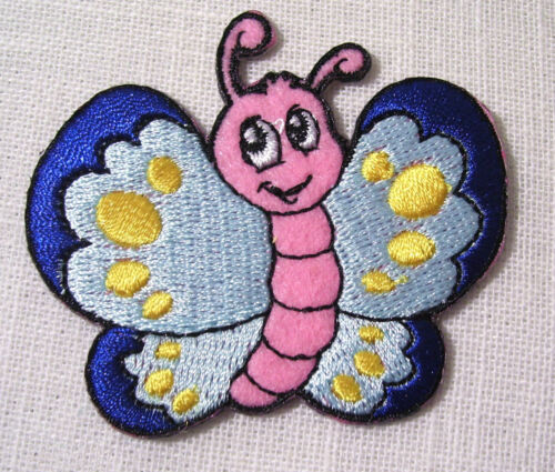 BÉBÉ INSECTE PAPILLON ABEILLE ÉCUSSON PATCH BRODE thermocollant 6 x 6 cm