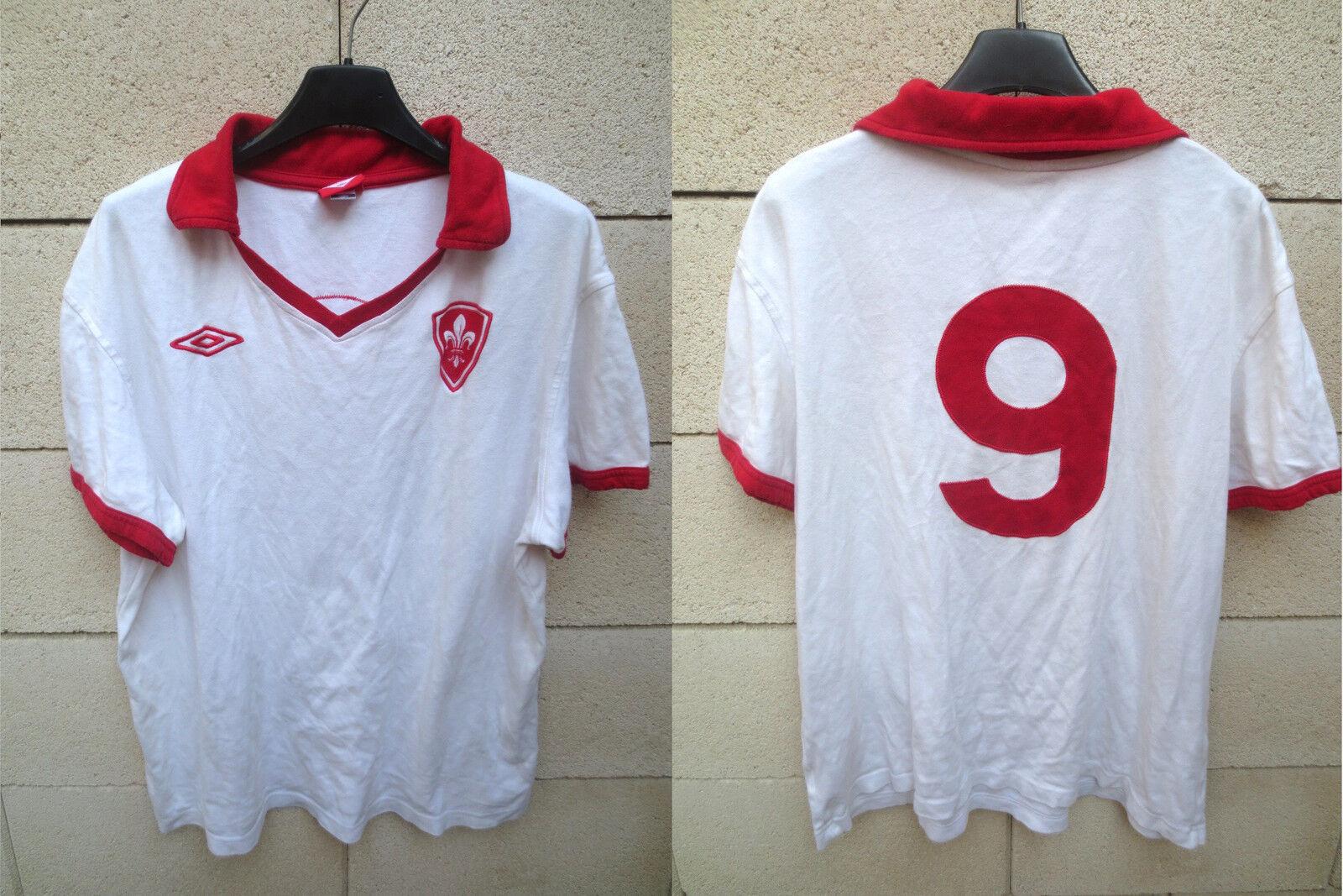 Maillot LILLE LOSC n°9 UMBRO rétro vintage coton shirt football oldschool XL