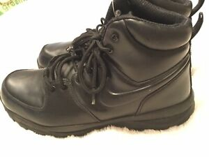 7ab271522f9 Details about Nike Manoa Boot Triple Black Leather Boots Size 10.5 Men's  454350-003