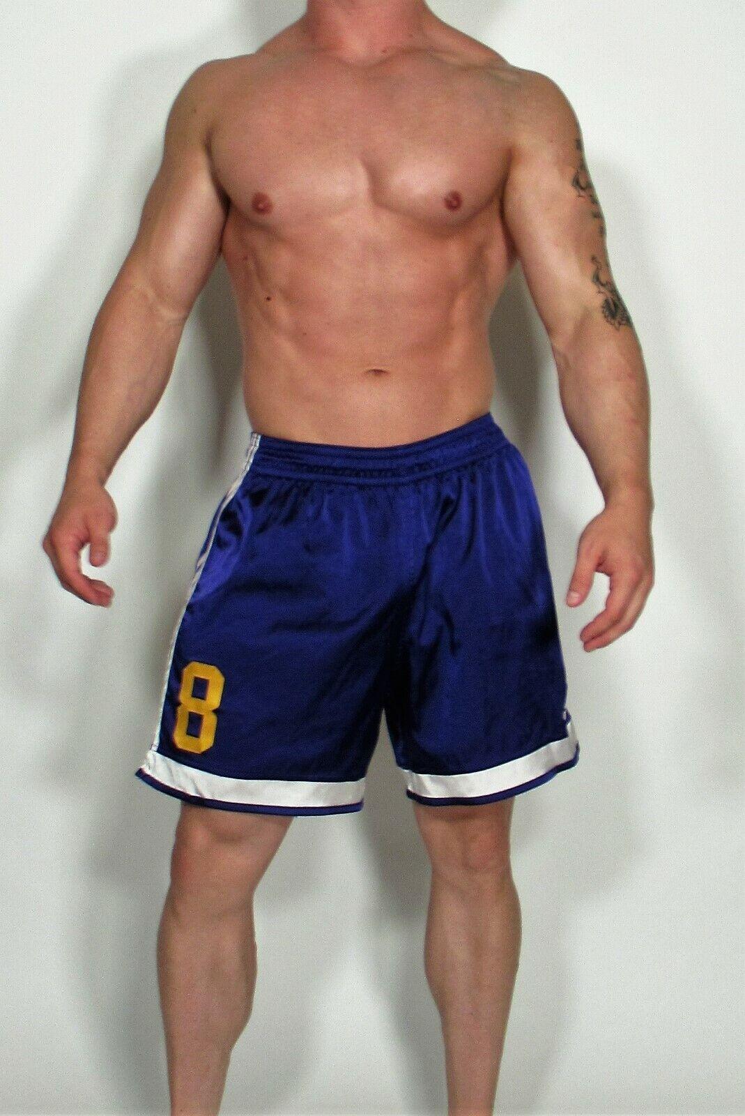 Utilizado para hombre Adidas Fútbol Pantalones Cortos De Raso Talla Grande (Color Raro)
