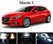Xenon White Vanity / Sun visor LED light Bulbs for Mazda 3 (4 Pcs)