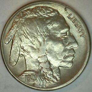1920-S-UNC-Buffalo-Indian-Head-Nickel-5-cent-US-United-States-5c-Nickel-K31