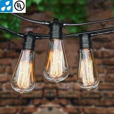 75 Foot Commercial Outdoor Vintage String Lights - Set of 22 ST64 Edison Bulbs