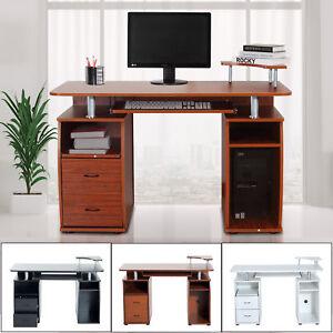 Computertisch Schreibtisch Burotisch Cheftisch Tisch Holz Schublade