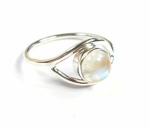 Rainbow-Moonstone-timbrato-925-Argento-Sterling-Anello-UK-K-L-M-N-O-P-Q-R-S-T-U-V