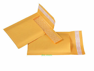 """200 PCS Small Size Kraft Bubble Mailers Padded Envelopes Bags 3"""" x 6""""_75 x 150mm"""