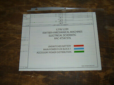 new holland l220 skid steer loader me electrical wiring diagram schematic  manual  ebay