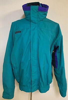 Vintage 90/'s Columbia Sportswear INTERCHANGE Jacket Men Powder Keg 3 in 1 Red Purple Reversible Retro Snow Ski Coat M