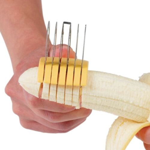 Banana and Cucumber Fruit Cutter Slicer  Kitchen Gadget Stainless Steel