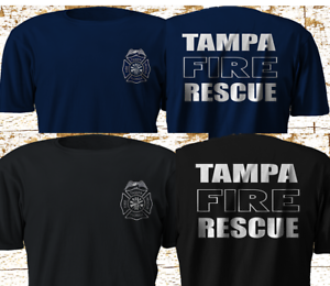 New Tampa Fire Rescue Florida Firefighter Department T Shirt S 4xl