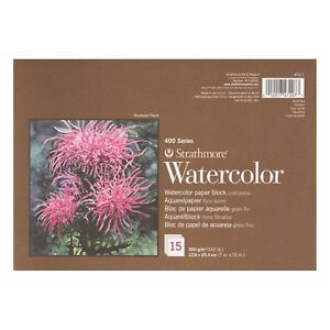 watercolour-paper-block-artists-painting-pad-300gsm-Strathmore-400
