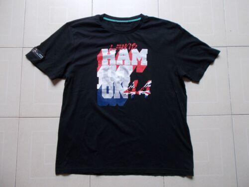 0cad672e2d18a5 ... Formula One 1 Mercedes AMG PETRONAS F1 Team Lewis Hamilton 44 T-shirt  SIZE L
