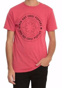 Red-Hot-Chili-Peppers-Circle-Logo-T-Shirt-Red-NEW-XS-3XL-100-Authentic