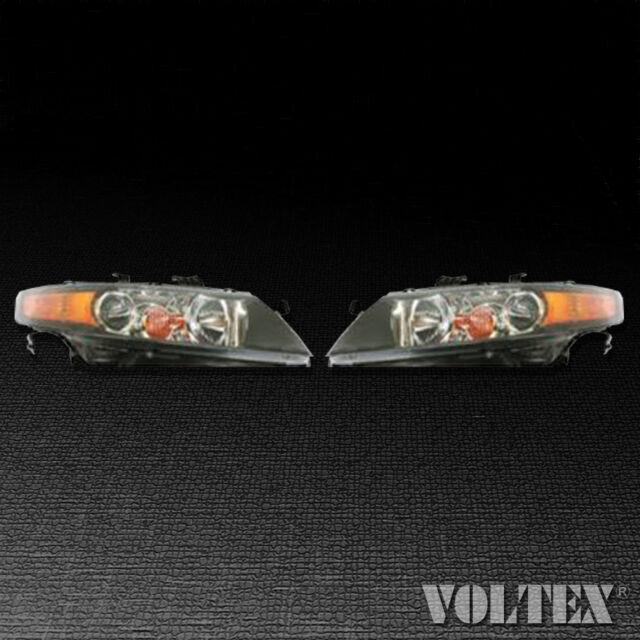 2006-2008 Acura TSX Set Of 2 Headlight Lamp Clear Lens