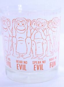 Wise-Monkey-Tumbler-See-No-Evil-Hear-No-Evi-Speak-No-Evil-Small-Glass-4-5-034