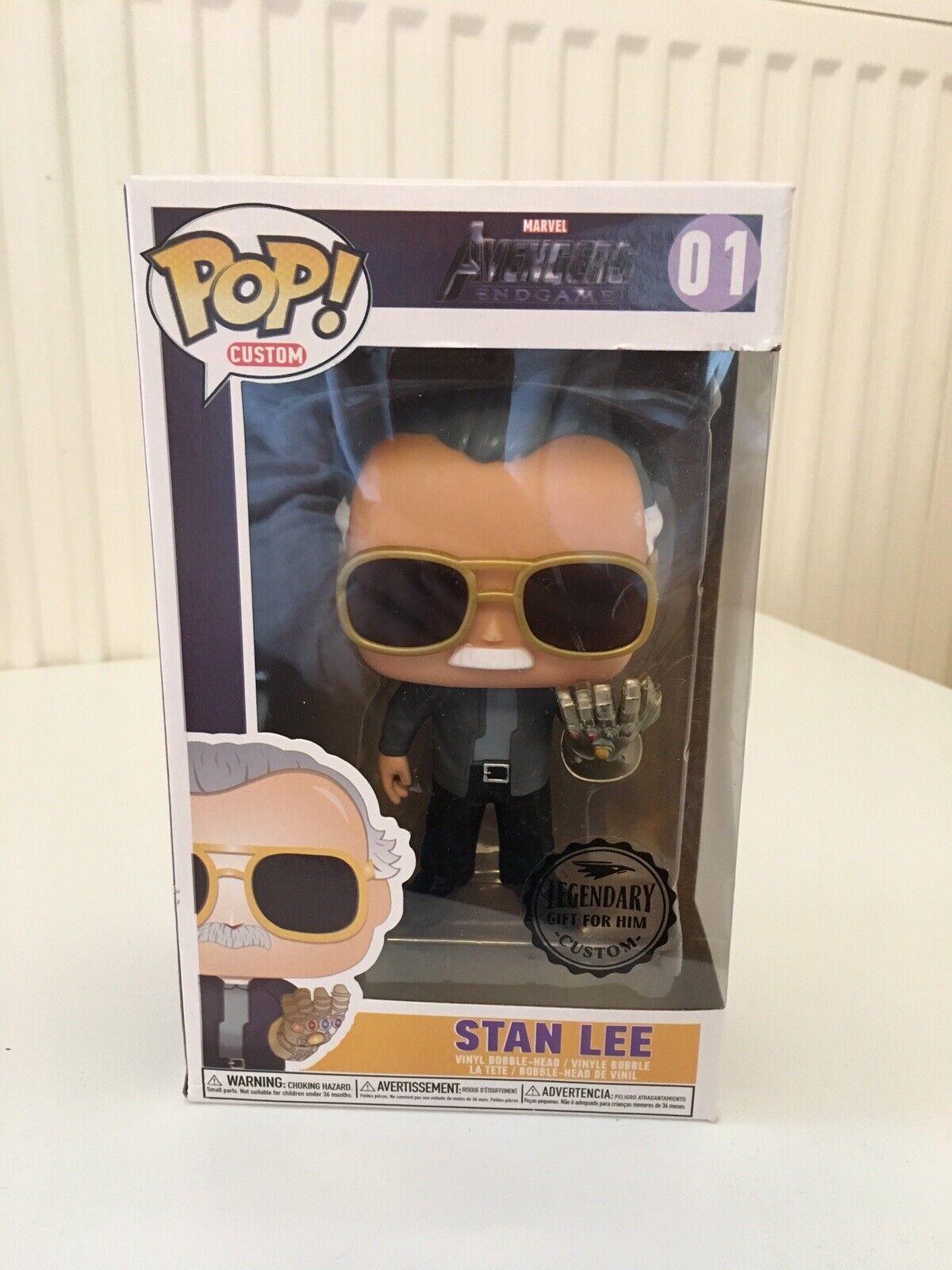Funko Pop Stan Lee Custom Avengers Endgame With Gauntlet Legendary Gift For Him