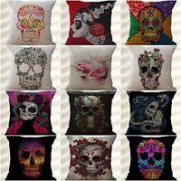 Wholesale 10pcs Calavera Sugar Skull Cushion Decorative Pillow Covers For Sofa