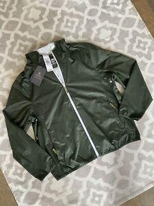 Timberland Men's Waterproof Windbreaker Hooded Jacket Dark Olive NWT Size XL