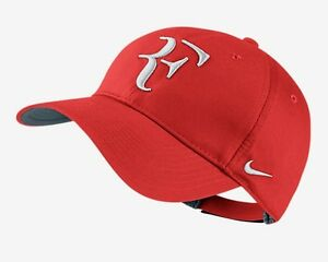hermosa Correctamente Amigo  Nuevos Nike Rf Roger Federer Gorra Tenis Dri Fit Crimson 371202 -696 | eBay