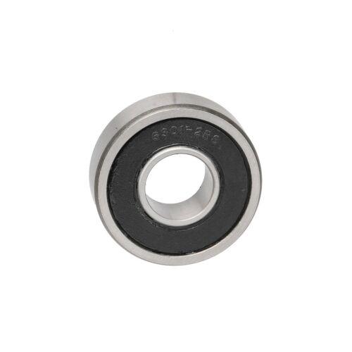 2pc 37mm x 15mm x 12mm Roller-Skating Wheels Deep Groove Ball Bearing 6301