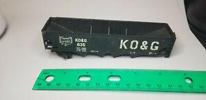 Rivarossi-HO-KO-amp-G-4-Bay-Black-Hopper-835-TRAIN-HO-SCALE-MODEL-FREIGHT-CAR-Italy