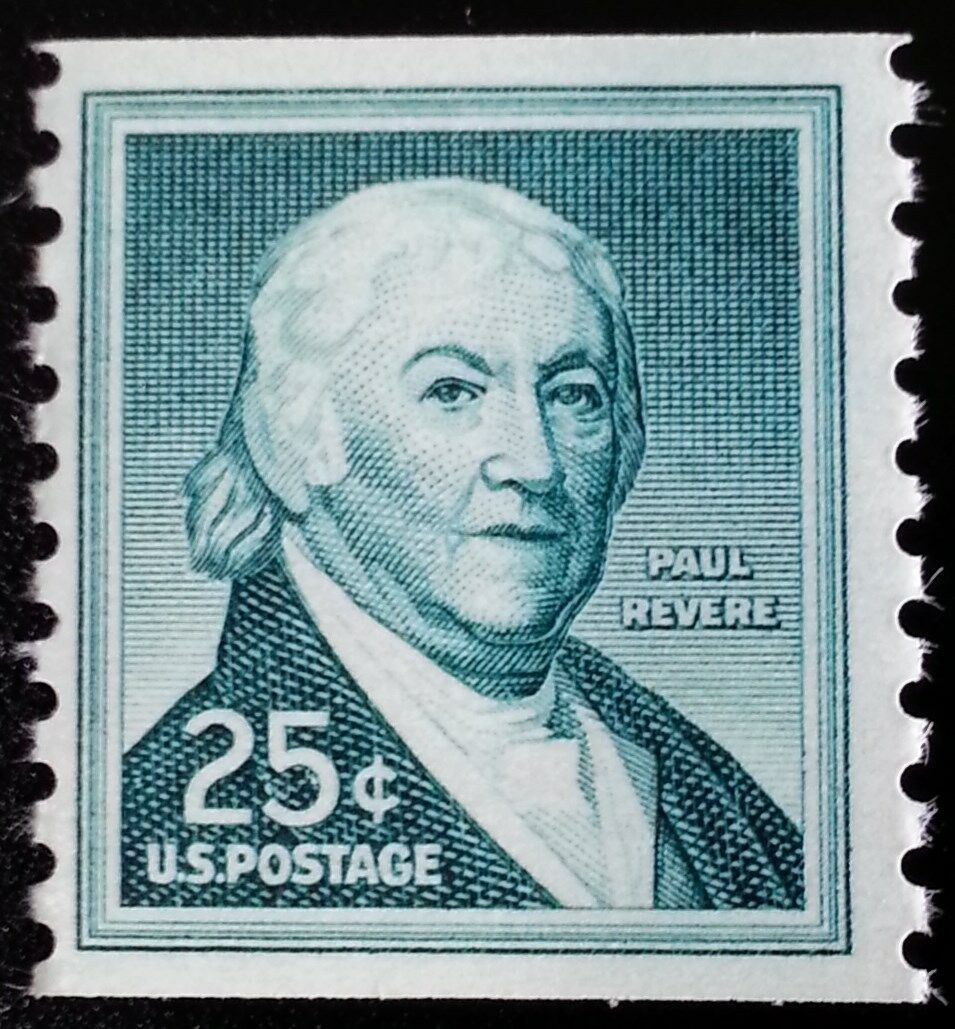 1965 25c Paul Revere, Coil Scott 1059a Mint F/VF NH