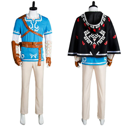 The Legend of Zelda Breath of the Wild Link Costume Cosplay Suit Outfit Uniform