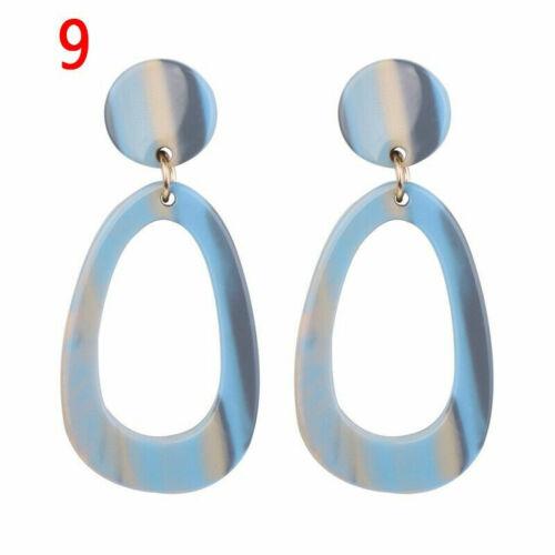 Fashion Women Earring Acrylic Geometric Resin Drop Dangle Stud Earrings Jewelry