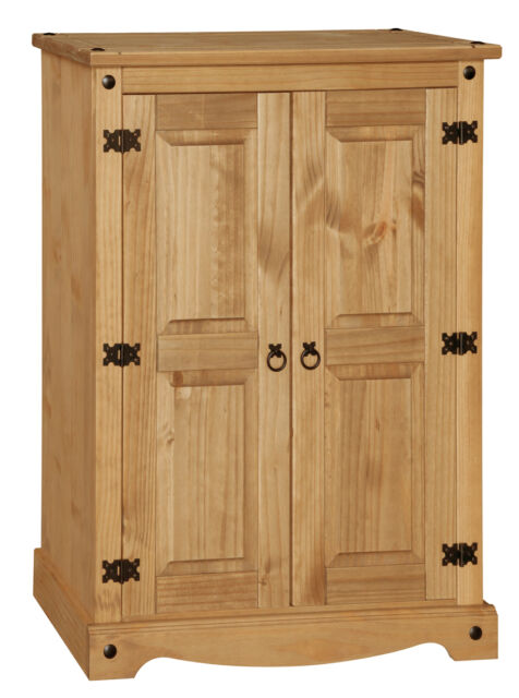 Premium Corona Solid Pine 2 Door Cupboard with Adjustable Shelves