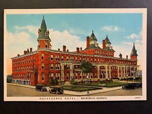 Postcard-Brunswick-GA-c1920s-Oglethorpe-Hotel