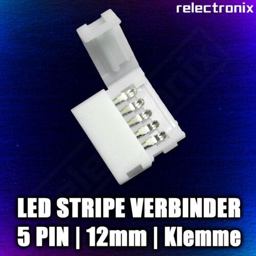 12mm LED RGBW Stripe Schnellverbinder 5 Pin Clips Klemmen