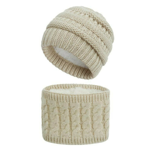 2PCS//Set Baby Winter Warm Knitted Hat Scarf for Child 12 Color Neck Warmer