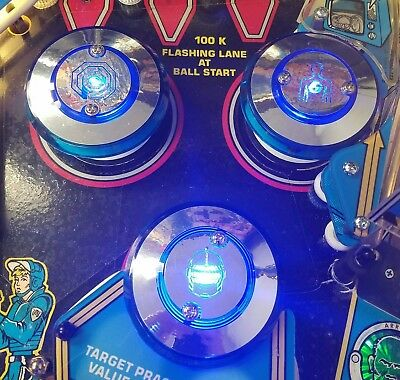 POLICE FORCE CHROME PINBALL POP BUMPER DECALS from METAL-MODS CHROME CAPS