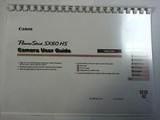 CANON POWERSHOT SX60HS PRINTED INSTRUCTION MANUAL USER GUIDE 203 PAGES A5