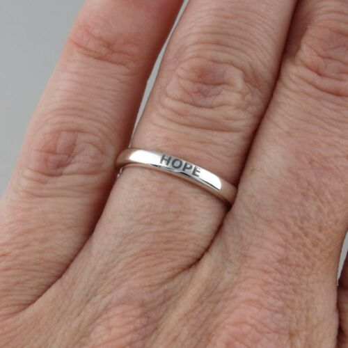HOPE Engraved Stackable Ring 925 Sterling Silver Multiple Sizes Available *NEW*
