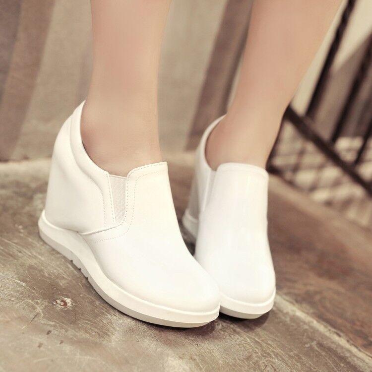 Nouveau Chaussures Pompes Wedge Confort Sur Les Glisse S Caché Talon rarpPq