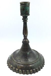 Tres Rare Chandelier 17^Siecle Candeliere Candlestik Bougeoir Leuchter Bronze