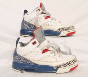 03b0660732843a Nike Air Jordan Son of Mars 580604-106 White Blue Red Youth Shoes ...
