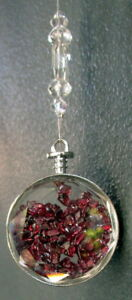 Suncatcher With Garnet Crystals for Vitality Health & Energy Gift Boxed
