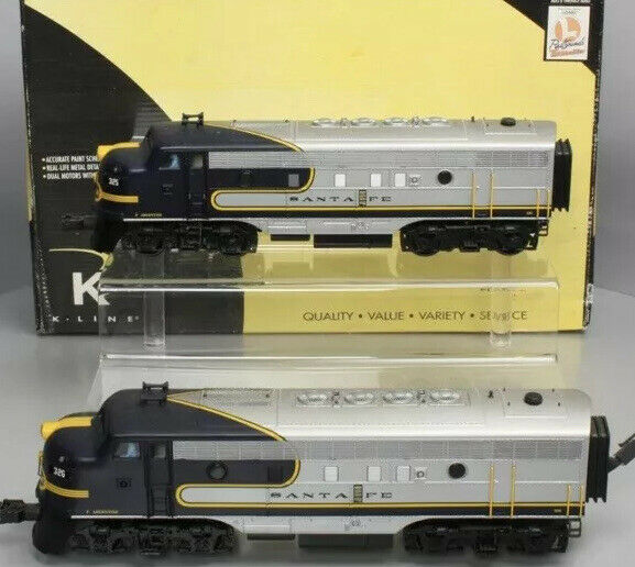 K Line Tmcc Santa Fe Blue Bonnet F 7 Aa Diesel Engine Set Atsf For Sale Online