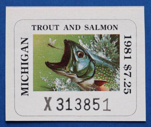 U.S. (MITS14) 1981 Michigan Trout & Salmon Fishing Stamp (MNH)