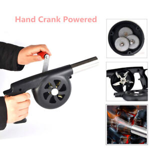 Hand Crank Fan Air Blower Grill Fire Starter Flame Stove Bbq Picnic Cooking Tool Ture 100% Garantie