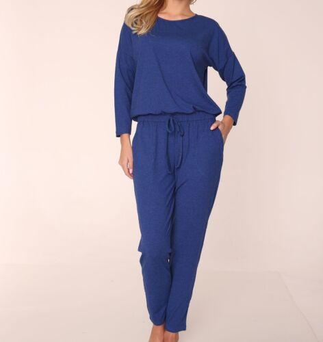 "Tuta da donna 3//4 Sleeve Playsuit Con /""Paula/"" S M L XL zaffiro Blu"