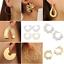Gothic-Fashion-Women-039-s-Large-Circle-Geometry-Metal-Earring-Ear-Stud-Earrings-HOT thumbnail 2